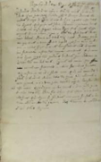 Responsum ad litteras Regis Hispaniarum, Warszawa 25.02.1601