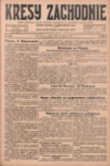 Kresy Zachodnie: pismo poświęcone obronie interesów narodowych na zachodnich ziemiach Polski 1925.07.24 R.3 Nr168