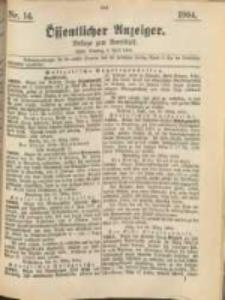 Oeffentlicher Anzeiger. 1904.04.05 Nro.14