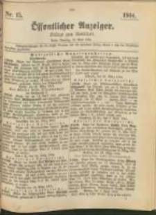 Oeffentlicher Anzeiger. 1904.04.12 Nro.15