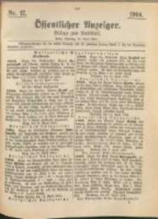 Oeffentlicher Anzeiger. 1904.04.26 Nro.17