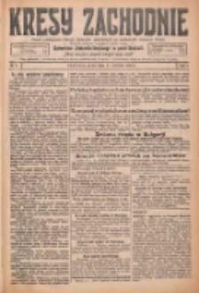 Kresy Zachodnie: pismo poświęcone obronie interesów narodowych na zachodnich ziemiach Polski 1926.01.06 R.4 Nr4