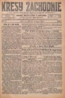 Kresy Zachodnie: pismo poświęcone obronie interesów narodowych na zachodnich ziemiach Polski 1926.01.08 R.4 Nr5