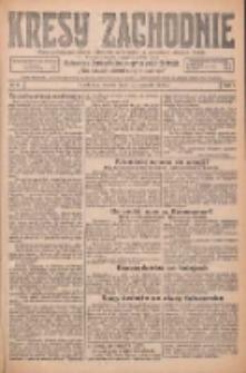 Kresy Zachodnie: pismo poświęcone obronie interesów narodowych na zachodnich ziemiach Polski 1926.01.12 R.4 Nr8