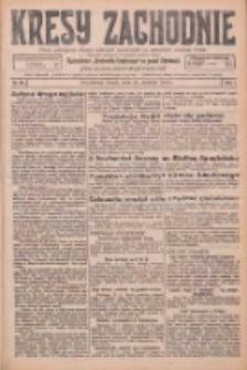 Kresy Zachodnie: pismo poświęcone obronie interesów narodowych na zachodnich ziemiach Polski 1926.01.26 R.4 Nr20