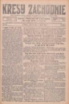 Kresy Zachodnie: pismo poświęcone obronie interesów narodowych na zachodnich ziemiach Polski 1926.02.04 R.4 Nr27