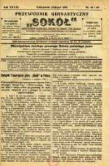 """Przewodnik Gimnastyczny """"Sokół"""": organ Dzielnicy Małopolskiej Związku Polskich Gimnastycznych Towarzystw Sokolich 1922.10/11 R.39 Nr10/11"""