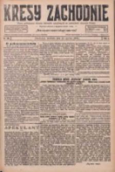 Kresy Zachodnie: pismo poświęcone obronie interesów narodowych na zachodnich ziemiach Polski 1926.06.13 R.4 Nr133