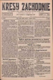 Kresy Zachodnie: pismo poświęcone obronie interesów narodowych na zachodnich ziemiach Polski 1926.08.11 R.4 Nr182