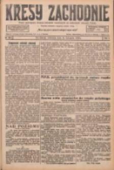 Kresy Zachodnie: pismo poświęcone obronie interesów narodowych na zachodnich ziemiach Polski 1926.11.14 R.4 Nr263