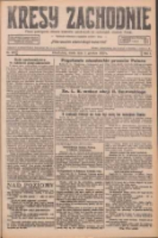 Kresy Zachodnie: pismo poświęcone obronie interesów narodowych na zachodnich ziemiach Polski 1926.12.01 R.4 Nr277
