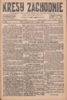 Kresy Zachodnie: pismo poświęcone obronie interesów narodowych na zachodnich ziemiach Polski 1926.12.03 R.4 Nr279