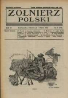Żołnierz Polski : pismo poświęcone czynowi i doli żołnierza polskiego. R.4 1922 nr19
