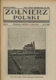 Żołnierz Polski : pismo poświęcone czynowi i doli żołnierza polskiego. R.4 1922 nr20