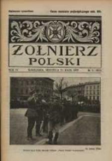 Żołnierz Polski : pismo poświęcone czynowi i doli żołnierza polskiego. R.4 1922 nr21