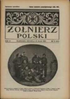 Żołnierz Polski : pismo poświęcone czynowi i doli żołnierza polskiego. R.4 1922 nr22
