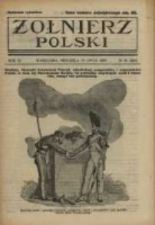 Żołnierz Polski : pismo poświęcone czynowi i doli żołnierza polskiego. R.4 1922 nr29