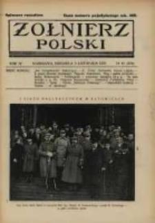 Żołnierz Polski : pismo poświęcone czynowi i doli żołnierza polskiego. R.4 1922 nr45