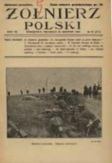 Żołnierz Polski : pismo poświęcone czynowi i doli żołnierza polskiego. R.7 1925 nr35
