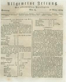 Allgemeine Zeitung: mit allerhöchsten Privilegien. 1809.03.26 Nro.85