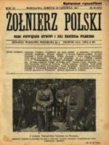 Żołnierz Polski : pismo poświęcone czynowi i doli żołnierza polskiego. R.3 1921 nr38