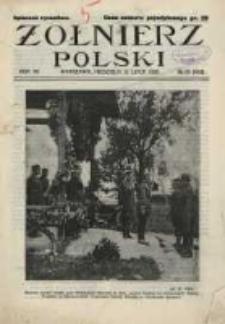 Żołnierz Polski : pismo poświęcone czynowi i doli żołnierza polskiego. R.7 1925 nr28