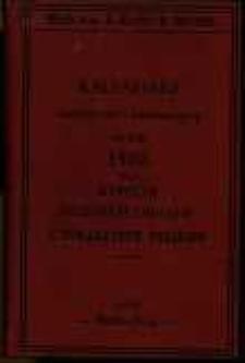 Kalendarz statystyczno-informacyjny na rok 1908 dla Kupców, Przemysłowców i Towarzystw Polskich.