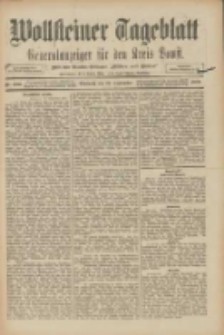 """Wollsteiner Tageblatt: Generalanzeiger für den Kreis Bomst: mit der Gratis-Beilage: """"Blätter und Blüten"""" 1909.09.22 Nr222"""