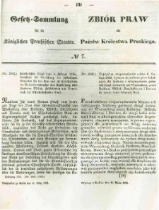 Gesetz-Sammlung für die Königlichen Preussischen Staaten. 1854.03.16 No7