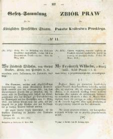 Gesetz-Sammlung für die Königlichen Preussischen Staaten. 1854.04.20 No11
