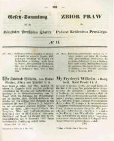 Gesetz-Sammlung für die Königlichen Preussischen Staaten. 1854.05.04 No14