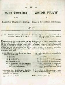 Gesetz-Sammlung für die Königlichen Preussischen Staaten. 1854.05.24 No18