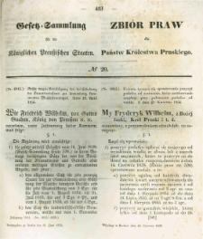 Gesetz-Sammlung für die Königlichen Preussischen Staaten. 1854.06.16 No20