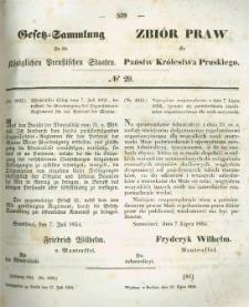 Gesetz-Sammlung für die Königlichen Preussischen Staaten. 1854.07.27 No29