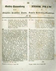 Gesetz-Sammlung für die Königlichen Preussischen Staaten. 1854.08.12 No31