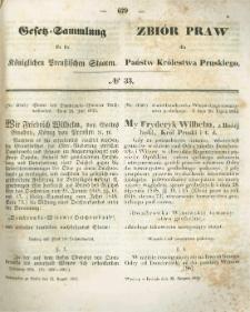 Gesetz-Sammlung für die Königlichen Preussischen Staaten. 1854.08.22 No33