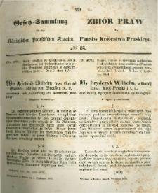 Gesetz-Sammlung für die Königlichen Preussischen Staaten. 1854.09.04 No35