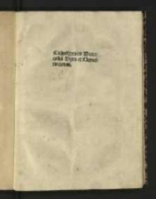 Casus summarii Decretalium Sexti et Clementinarum