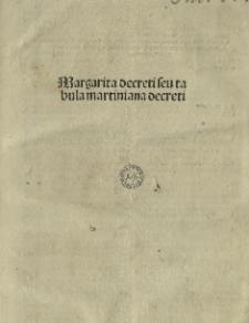 Margarita Decreti, seu Tabula Martiniana