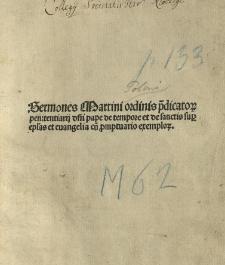 Sermones de tempore et de sanctis, cum Promptuario exemplorum