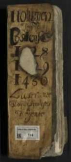 """""""Volumen Terre Costense 1428 1429 1430 lustrante Flor[iano] Smileski[?] Regente"""""""