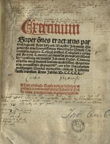 Exercitum super omnes tractatus Parvorum logicalium Petri Hispani, cum textu