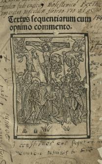 Sequentiae. Textus sequentiarum, cum optimo commento. Textus Homnorum