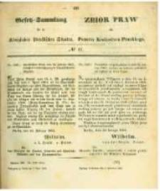 Gesetz-Sammlung für die Königlichen Preussischen Staaten. 1862.04.03 No11