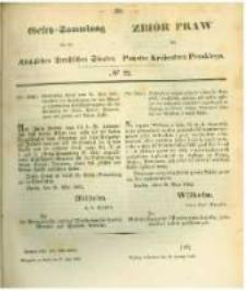 Gesetz-Sammlung für die Königlichen Preussischen Staaten. 1862.06.30 No22