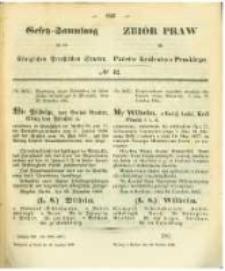 Gesetz-Sammlung für die Königlichen Preussischen Staaten. 1862.12.30 No42