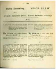 Gesetz-Sammlung für die Königlichen Preussischen Staaten. 1863.04.02 No8