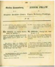 Gesetz-Sammlung für die Königlichen Preussischen Staaten. 1863.11.24 No40