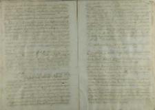 Odpowiedz kanoników na przyjęcie biskupa Andrzeja Zebrzydowskiego, 1547