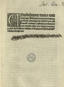 Conclusiones contra quorundam Bohemorum errores